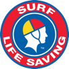 Surf life saving logo with person