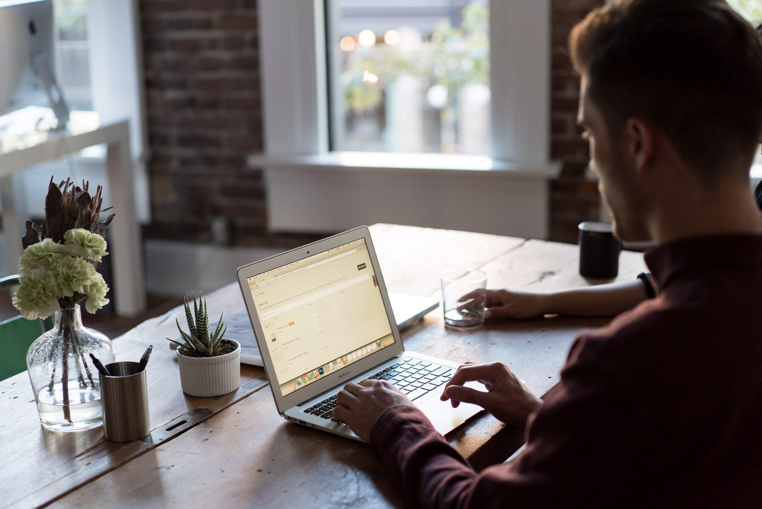 accountant using laptop