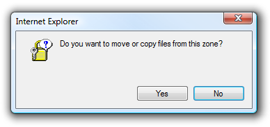 do you want to move or copy files from this zone
