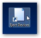 eject devices shortcut