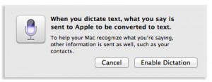 emable dictation pop up