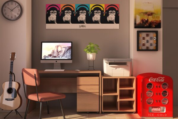 computer workstation setup