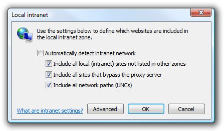 local intranet settings 2
