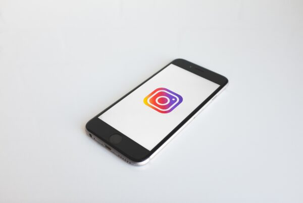 instagram app opened on phone