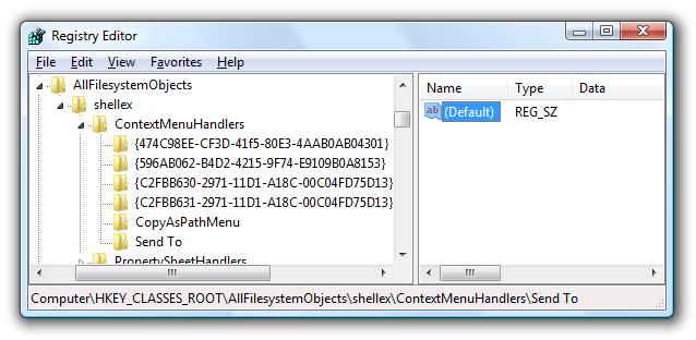 registry editor key