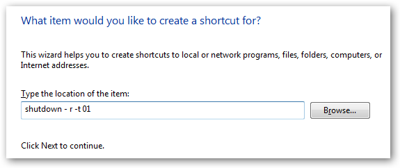 shutdown shortcut settings