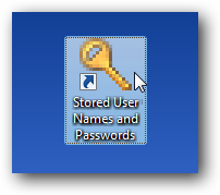 stored user names and passwords icon