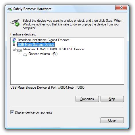 usb mass storage device settings