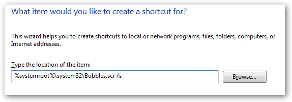 what would you like to create a shortcut for