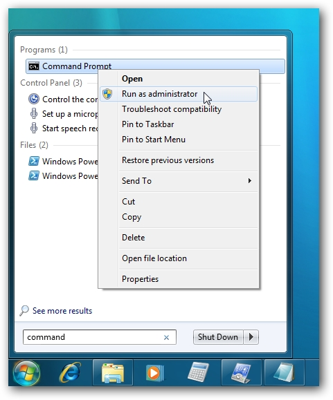 windows command prompt setting